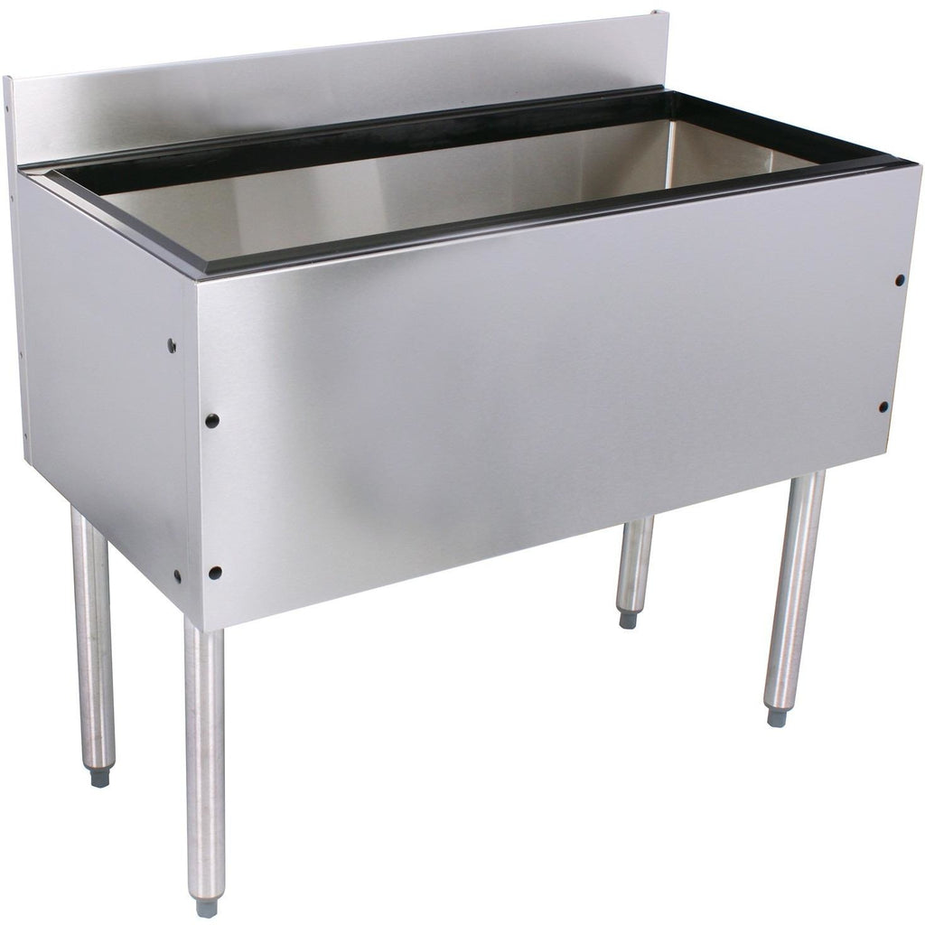 "Glastender Choice Stainless Steel Extra Deep Commercial Ice Bin 30"" with 10 Circuit Cold Plate - AT Faucet"