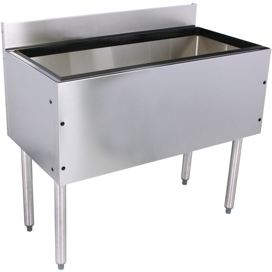 "Glastender Choice 36"" Stainless Steel Ice Bin with 10 Circuit Cold Plate - AT Faucet"