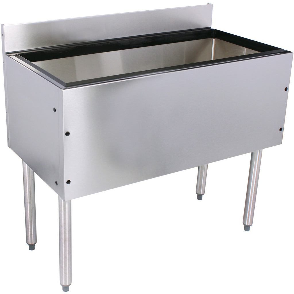 "Glastender Choice Stainless Steel Commercial Back Bar Ice Bin 48"" - AT Faucet"