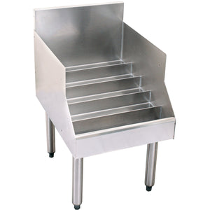 "Glastender Stainless Steel Liquor Display 24"" - AT Faucet"