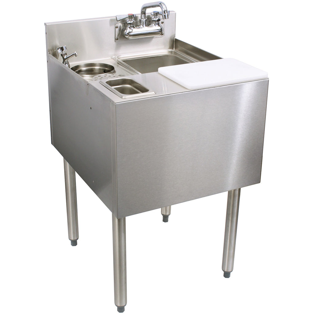 "Glastender C-MFT-20 Stainless Steel Mixology Unit 20"" - AT Faucet"