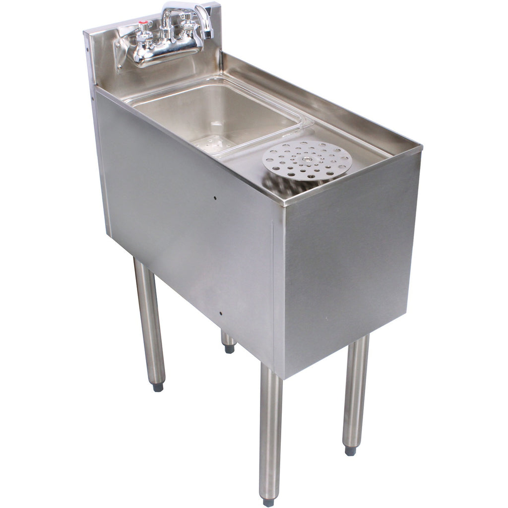 "Glastender C-MRS-12 Stainless Steel Mixology Unit 12"" - AT Faucet"