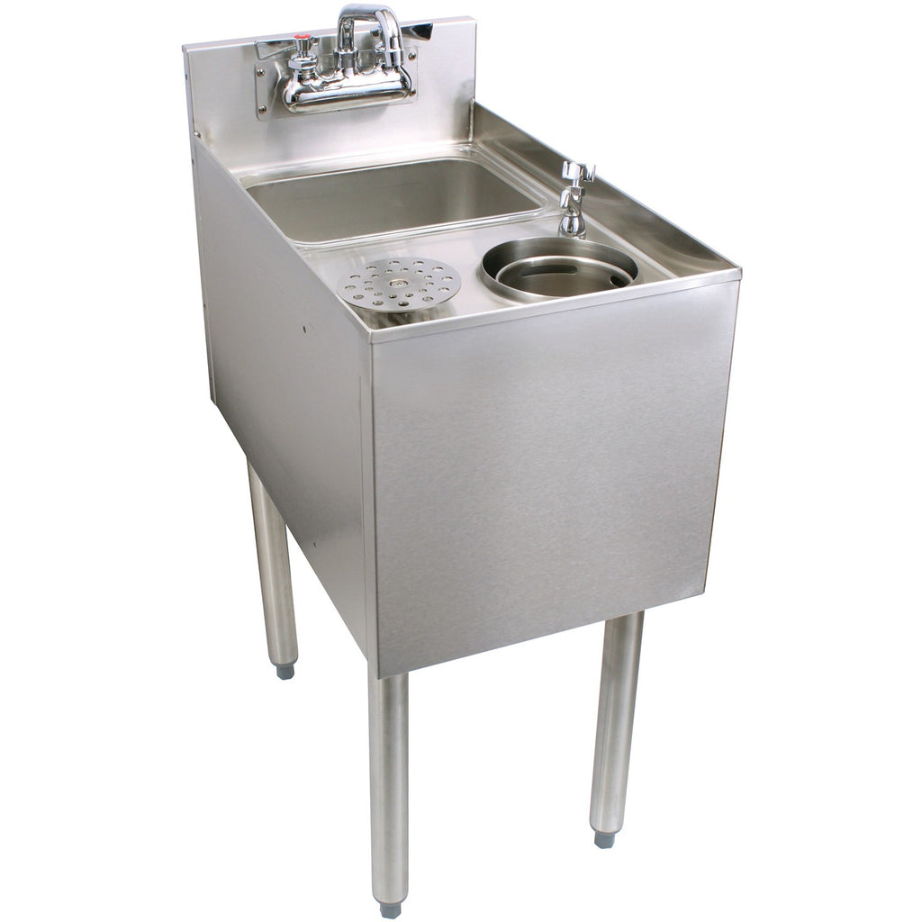 "Glastender C-MTS-14 Stainless Steel Mixology Unit 14"" - AT Faucet"