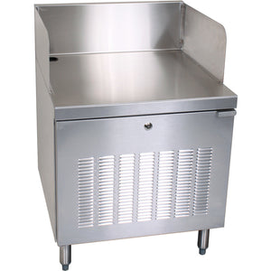 "Glastender C-PCB-18 Stainless Steel POS Cabinet 18"" - AT Faucet"