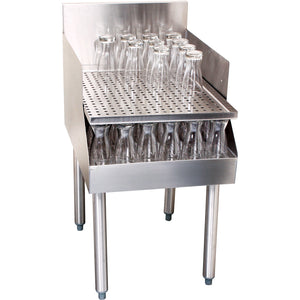 "Glastender C-RDB-18 Stainless Steel Recessed Drainboard 18"" - AT Faucet"