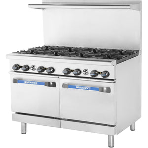 Radiance TAR-8 Commercial Kitchen Restaurant Range 8 Burner with Oven Natural Gas - AT Faucet