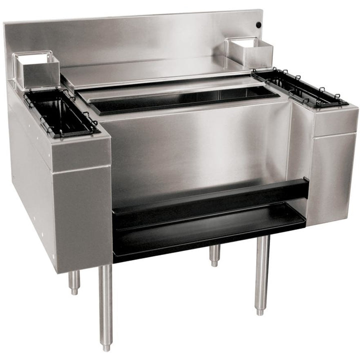 "Glastender Casino Style Combo Ice Bin 36"" - AT Faucet"