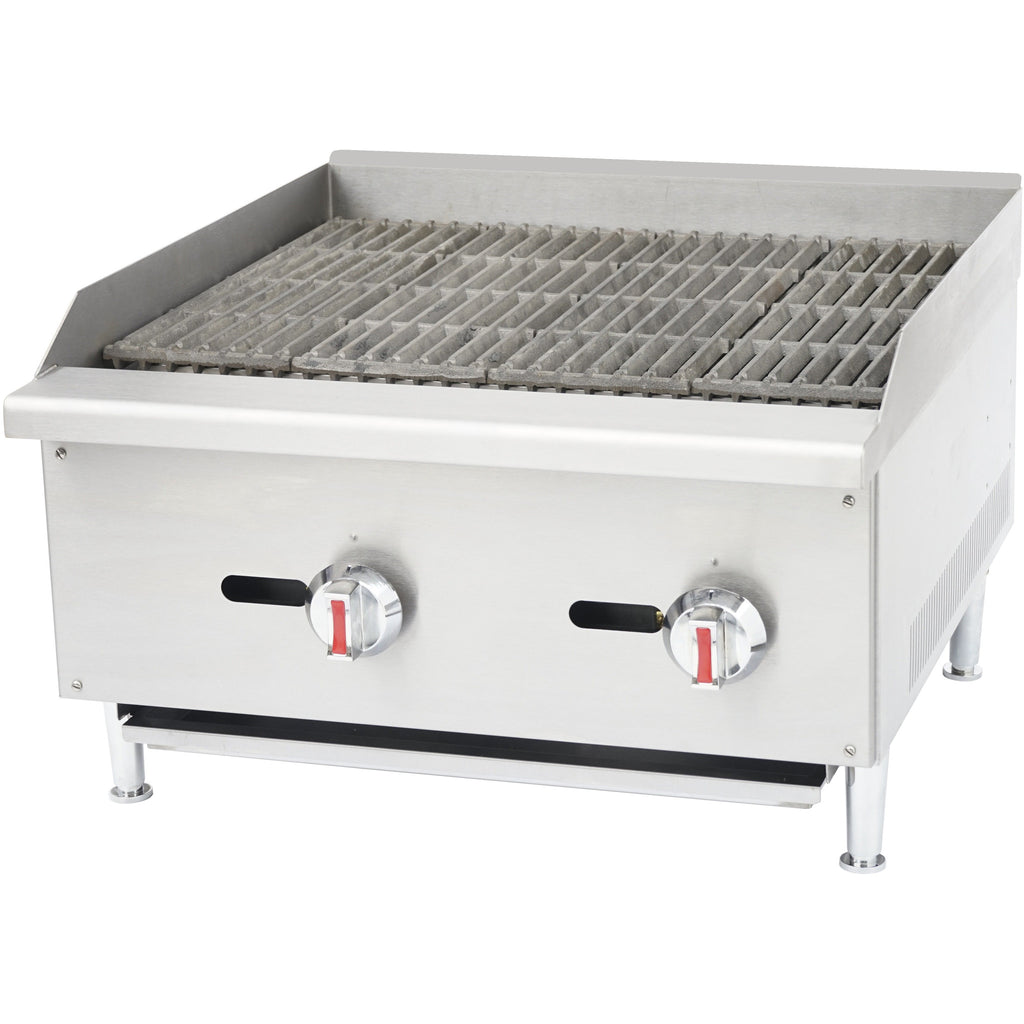 "Commercial Kitchen Gas Char-Broiler Radiant 24"" - AT Faucet"