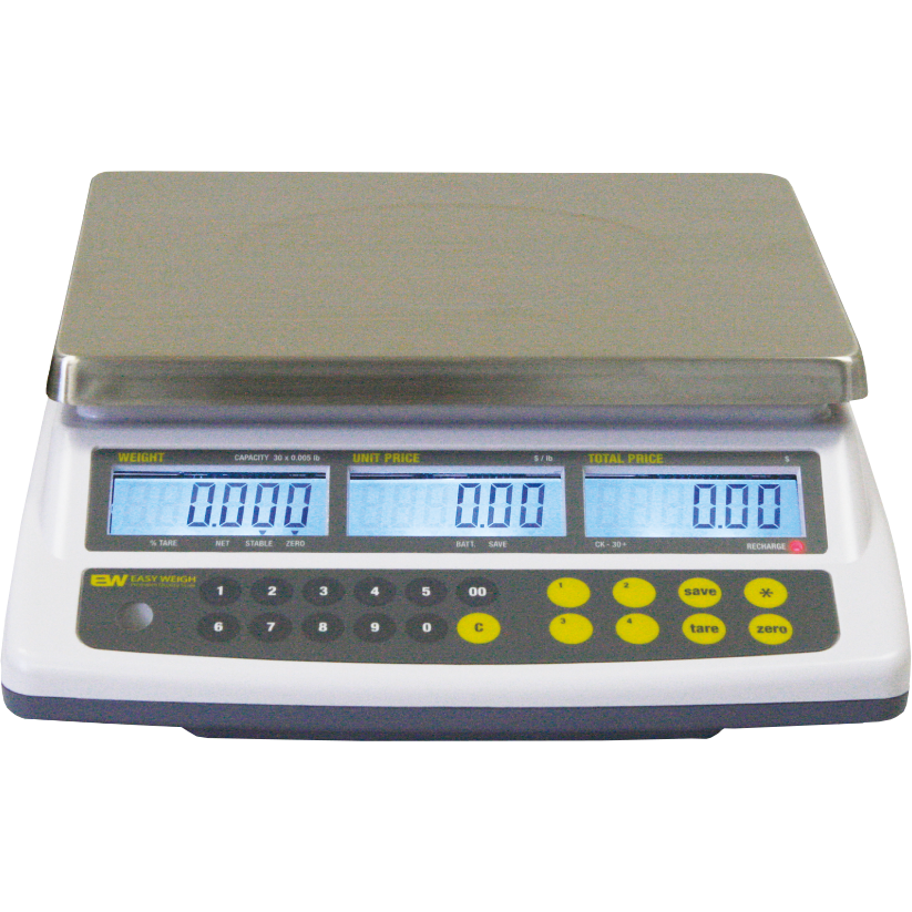 Commercial 30 Lb. Price Computing Scale Easy Weigh - AT Faucet