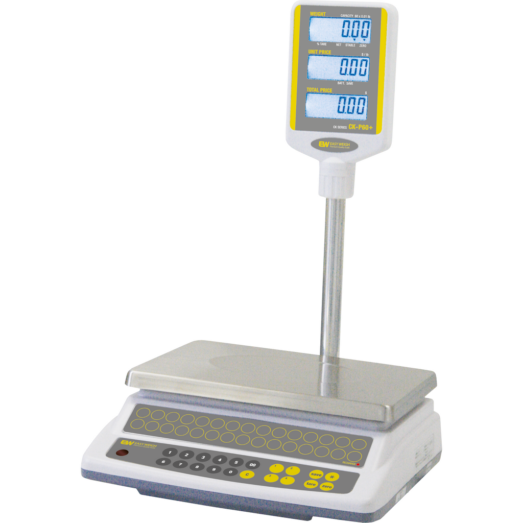 Commercial 60 Lb. Price Computing Scale Pole Display Easy Weigh - AT Faucet