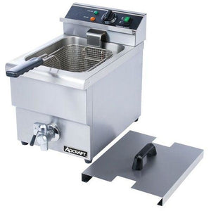 Commercial Kitchen Countertop Electric Single Tank Deep Fryer 6L with Faucet - AT Faucet