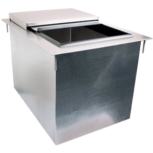 "Glastender Commercial 12"" Drop-In Ice Bin DI-IB12 - AT Faucet"