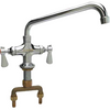 "Commercial Double Pantry Deck-Mount Faucet with 12"" Spout - AT Faucet"