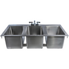 Stainless Steel 3 Compartment Drop-In Sink 37