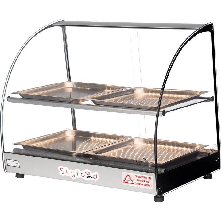 "Commercial Countertop Food Warmer Display Case 23"" - AT Faucet"