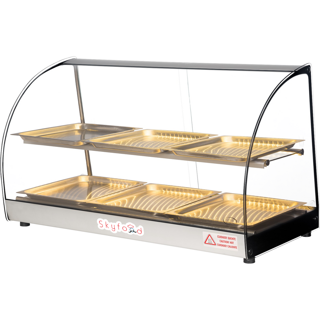"Commercial Countertop Food Warmer Display Case 33"" - AT Faucet Bar & Restaurant Equipment New Jersey"