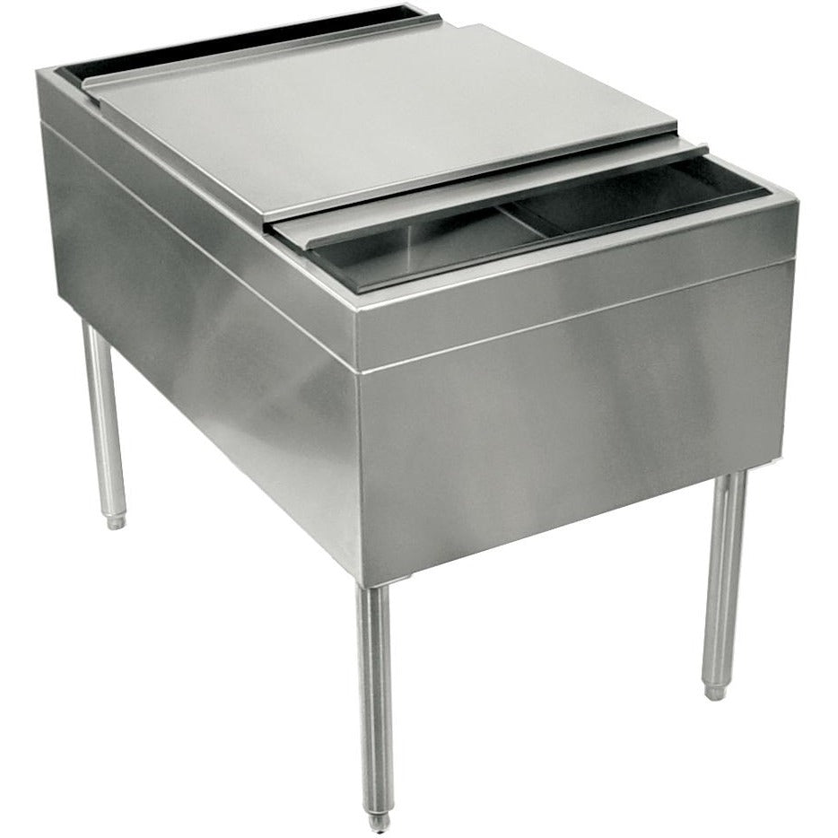 Glastender IB-38X24 Pass-Thru Ice Bin with Lid - AT Faucet