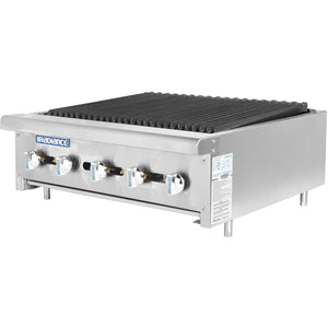 "Radiance Commercial Kitchen Countertop Radiant Gas Char-Broiler 30"" - AT Faucet"
