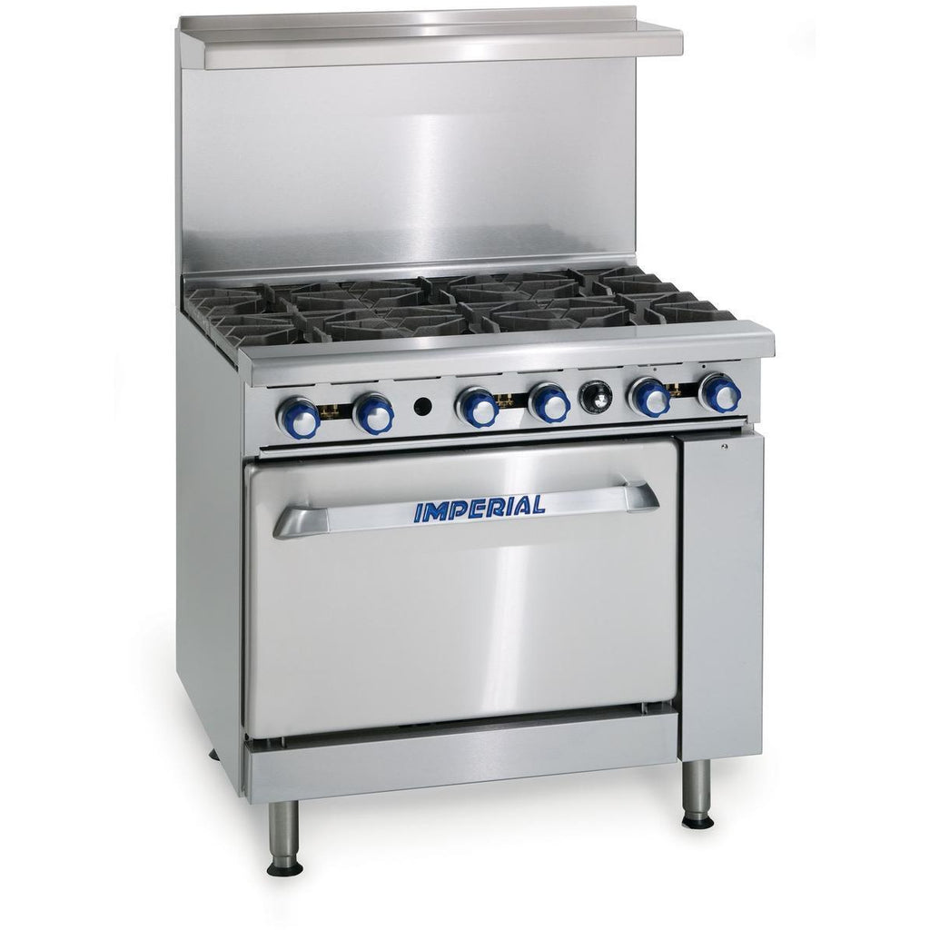 Imperial Range 6 Burner Gas Restaurant Range Natural Gas with Convection Oven - AT Faucet