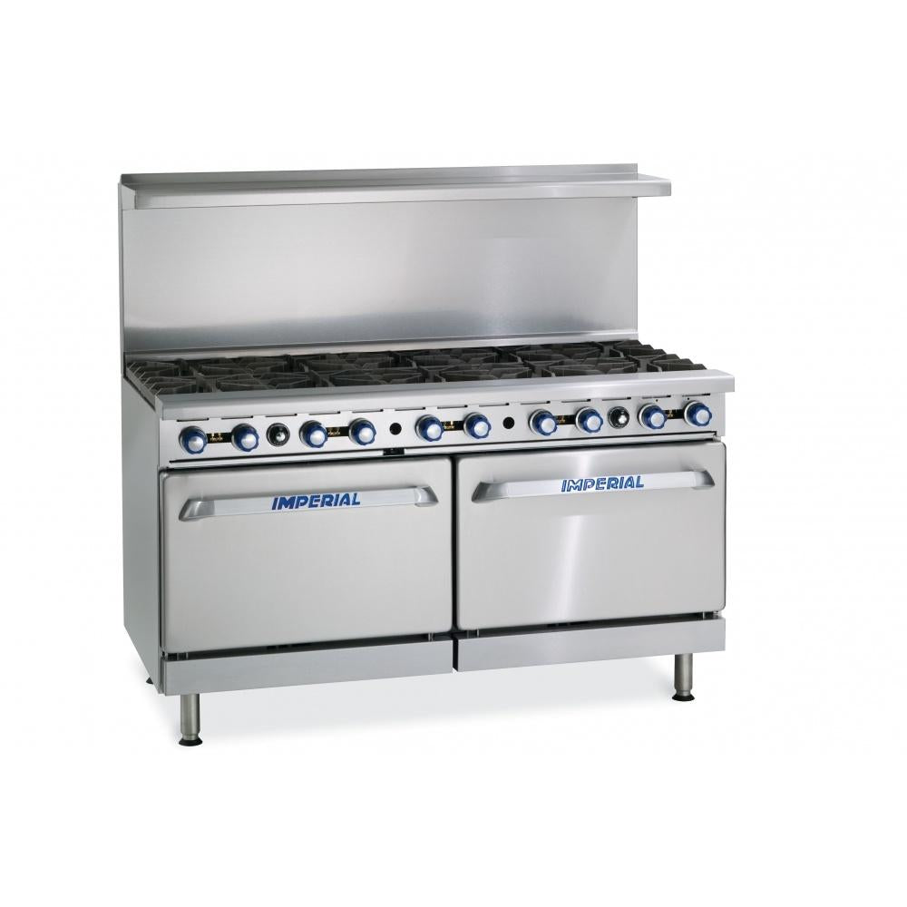 Imperial Range IR-10 10 Burner Gas Range Natural Gas with Oven - AT Faucet