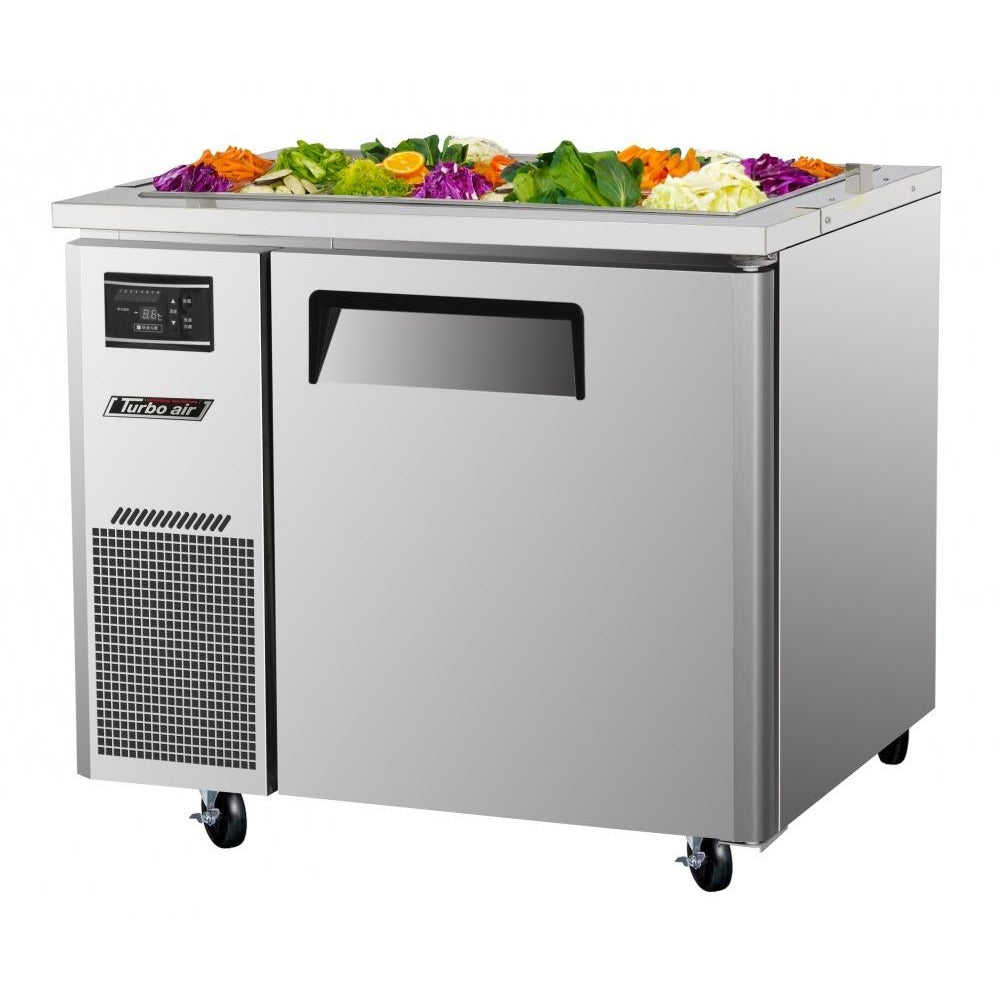 "Turbo Air JBT-36-N Refrigerated Buffet Display Table with 1 Door 36"" - AT Faucet"
