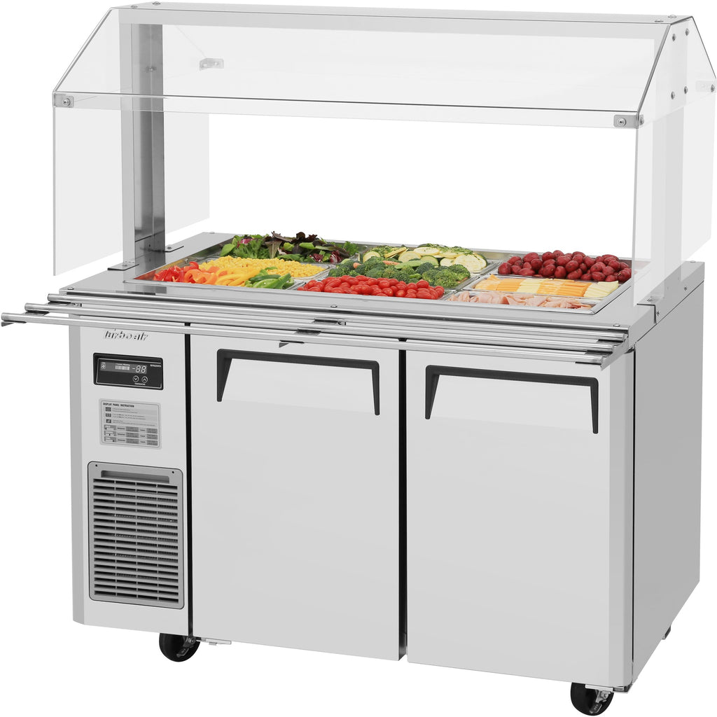 "Turbo Air Refrigerated Buffet Display Table with 2 Doors 48"" - AT Faucet"