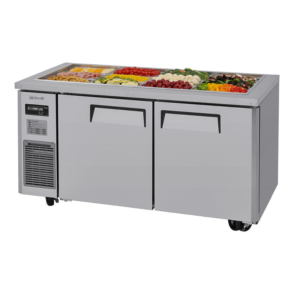 "Turbo Air JBT-60-N Refrigerated Buffet Display Table with 2 Doors 59"" - AT Faucet"