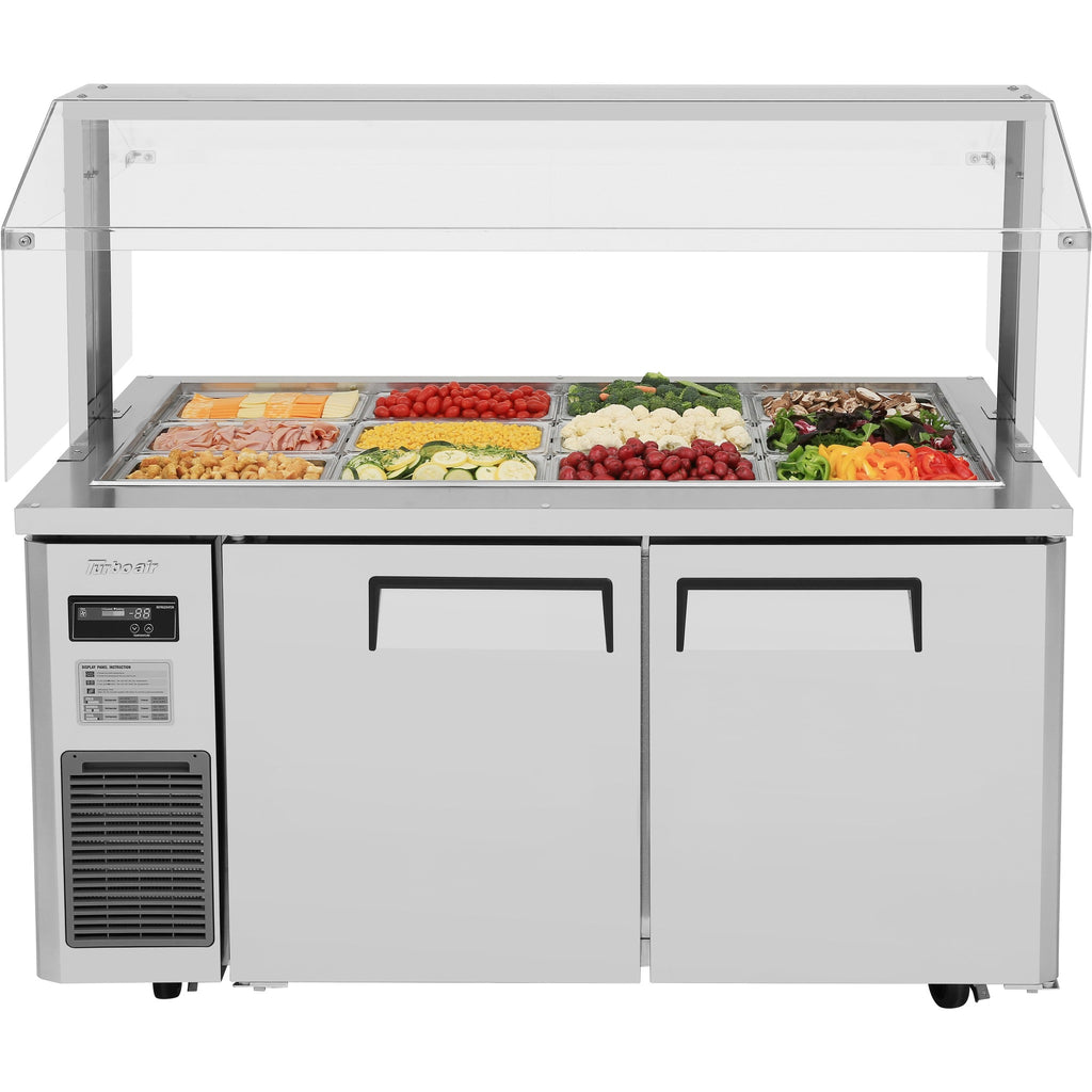 "Turbo Air Refrigerated Buffet Display Table with 2 Doors 59"" - AT Faucet"