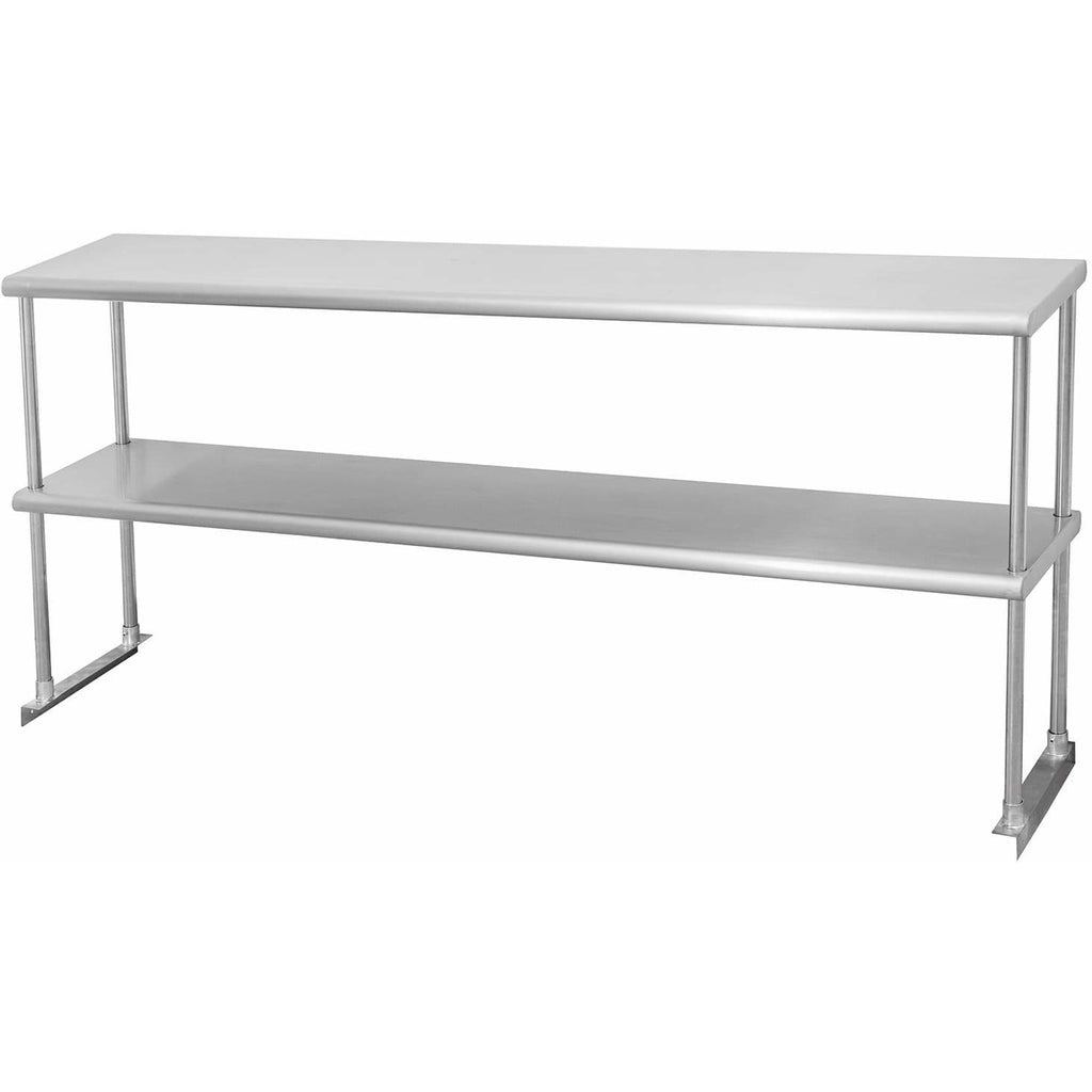 "Stainless Steel Double Overshelf 12"" x 60"" - AT Faucet"