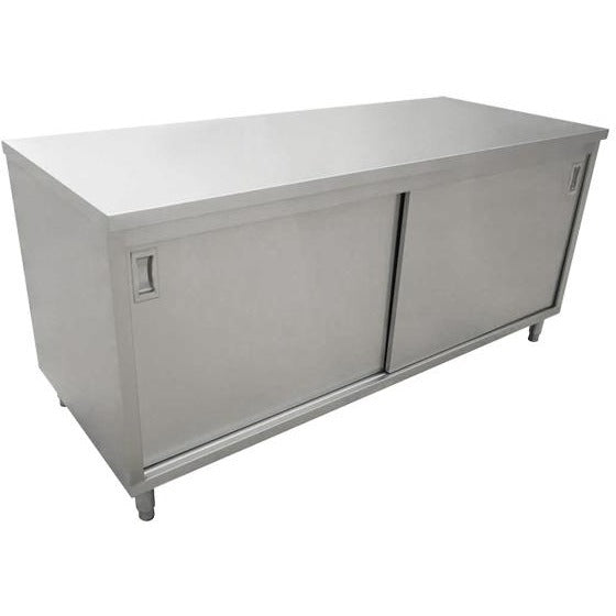 "Commercial Stainless Steel Work Prep Table Cabinet 30"" x 72"" - AT Faucet"