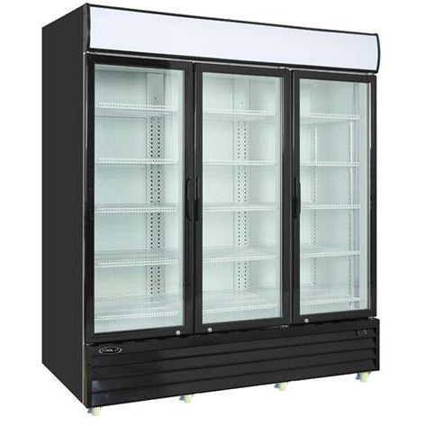 Commercial 3 Door Reach-In Cooler Glass Door Merchandiser 75 Cu. Ft. - AT Faucet