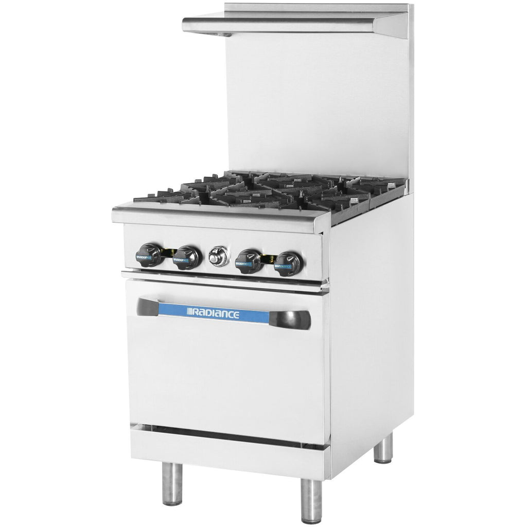 Radiance TAR-4-LP Commercial Kitchen Restaurant Range 4 Burner with Oven LP Gas - AT Faucet