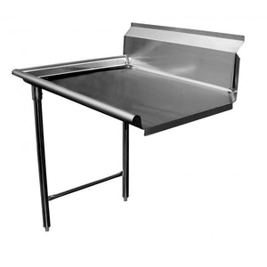 "Stainless Steel Commercial Kitchen Clean Left Dish Table 72"" - AT Faucet"