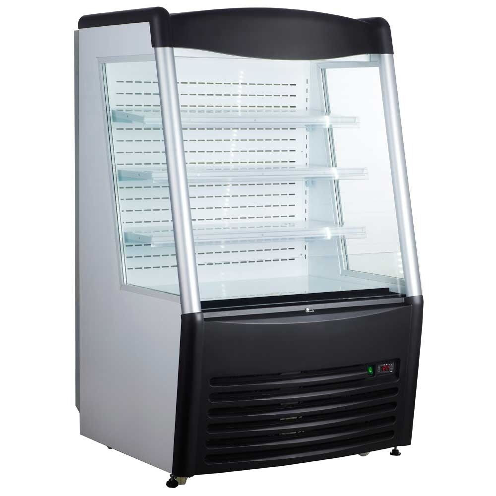 "Commercial Open Refrigerated Merchandiser Grab and Go Display Case 36"" Black - AT Faucet"