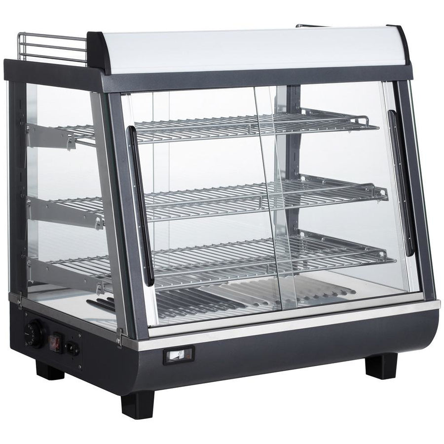 "Commercial Countertop Slanted Heated Display Case Food Warmer 27"" - AT Faucet"