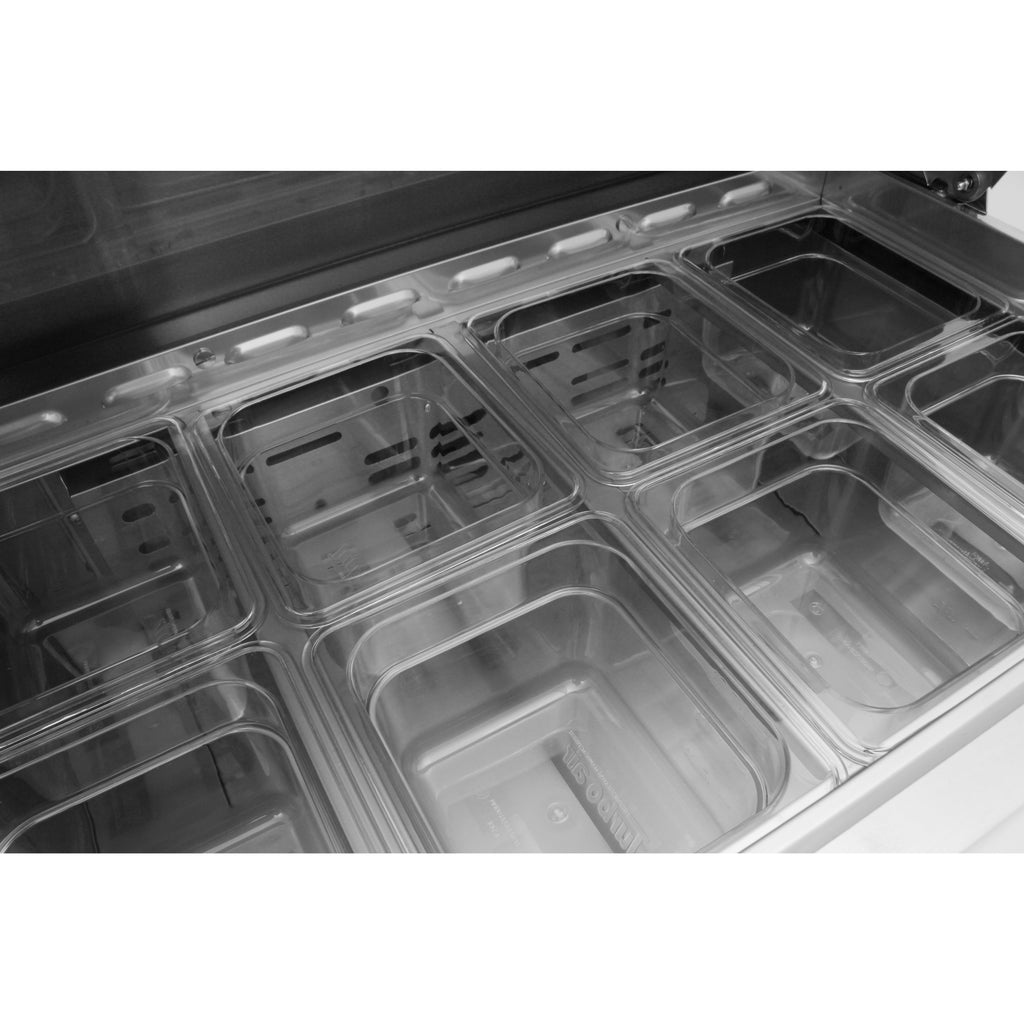 "Turbo Air MST-36-N6 Commercial Refrigerated Sandwich / Salad Prep Table 36"" - AT Faucet"
