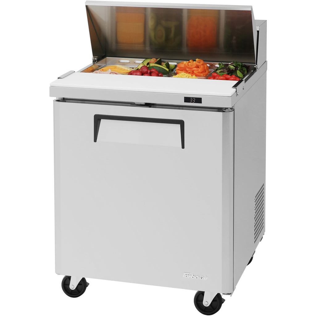 "Turbo Air MST-28-N Commercial Refrigerated Sandwich / Salad Prep Table 28"" - AT Faucet"