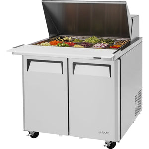 "Turbo Air Commercial Refrigerated Mega Top Sandwich / Salad Unit 37"" - AT Faucet"