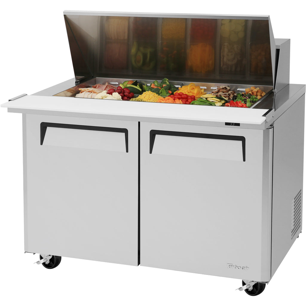 "Turbo Air MST-48-18-N Commercial Refrigerated Mega Top Sandwich / Salad Unit 48"" - AT Faucet"