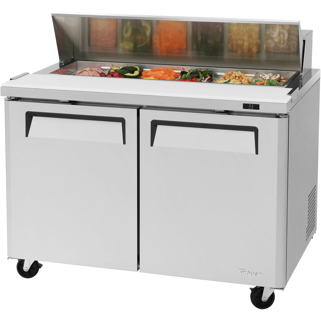"Turbo Air MST-48-N Commercial Refrigerated Sandwich / Salad Prep Table 48"" - AT Faucet"