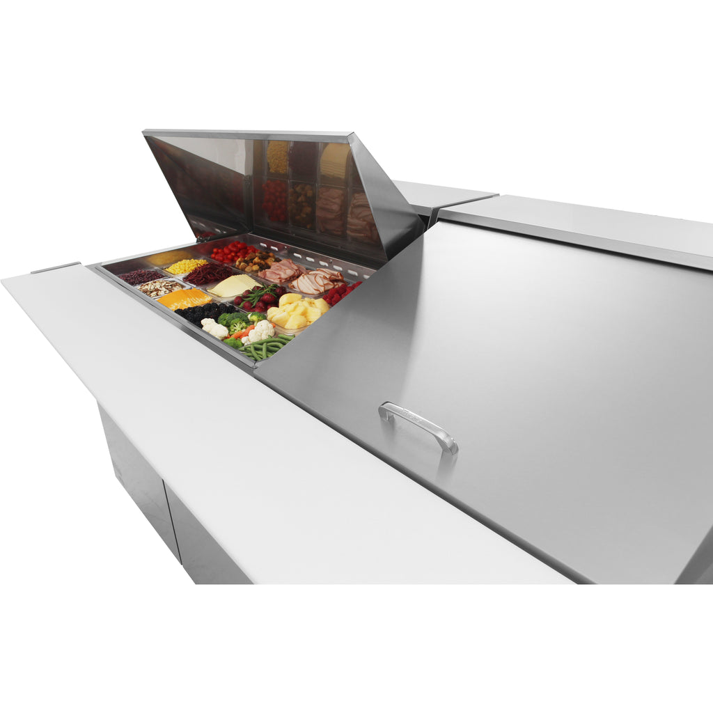 "Turbo Air MST-72-30-N Commercial Refrigerated Mega Top Sandwich / Salad Unit 72"" - AT Faucet"