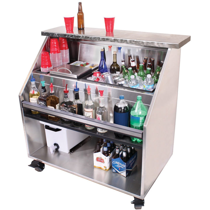 "Glastender PBC48-12 Portable Bar for Stackable Cups 48"" - AT Faucet"