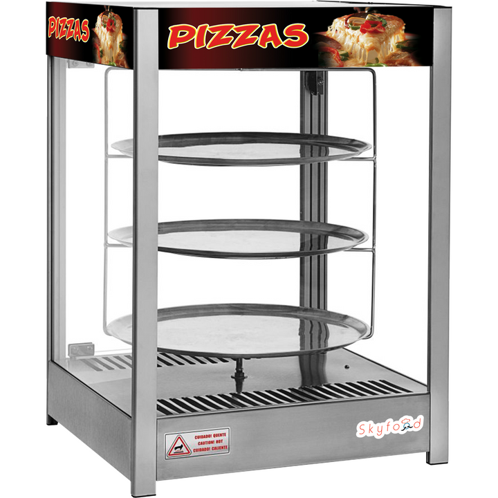 "Commercial Countertop Heated Pizza Display Merchandiser 18"" Pies - AT Faucet"