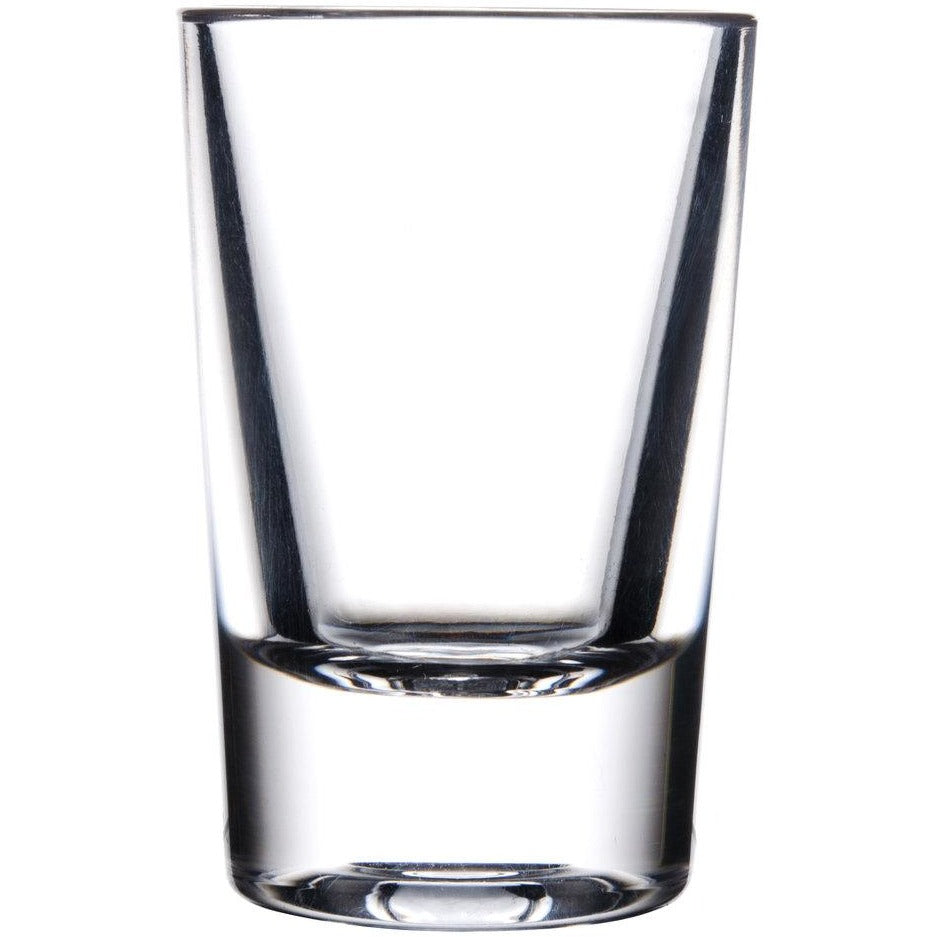 Commercial 1 oz. Polycarbonate Shot Glass Clear with Heavy Base Pack of 24 - AT Faucet