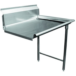 "Stainless Steel Commercial Kitchen Clean Right Dish Table 72"" - AT Faucet"