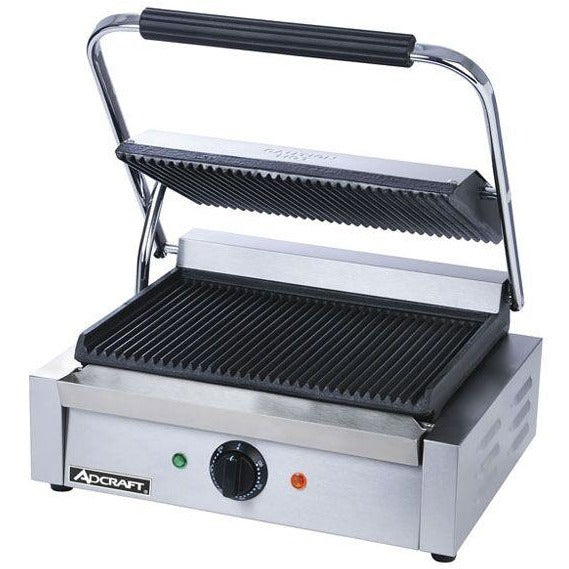 "Commercial Kitchen Countertop Large Grooved Panini Sandwich Grill 17"" - AT Faucet"