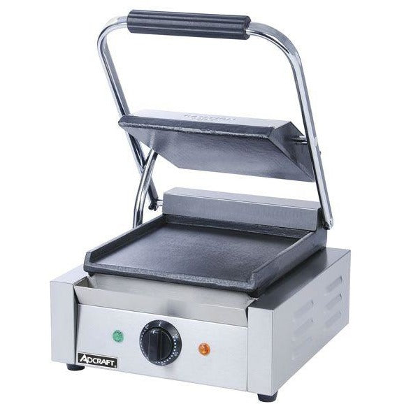 Commercial Kitchen Countertop Single Flat Panini Sandwich Grill 12\