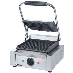 "Commercial Kitchen Countertop Single Grooved Panini Sandwich Grill 12"" - AT Faucet"