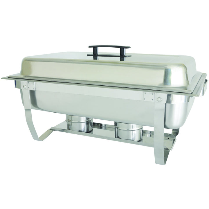 Commercial Stainless Steel 8 Qt. Full Size Rectangular Welded Chafer - AT Faucet