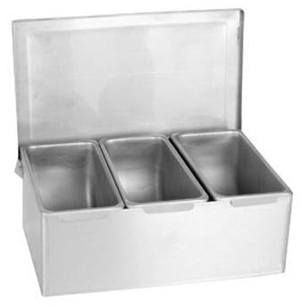 Stainless Steel 3 Compartment Condiment Dispenser - AT Faucet